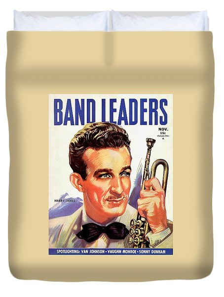Band Leaders Harry James, 1931 Poster Duvet Cover