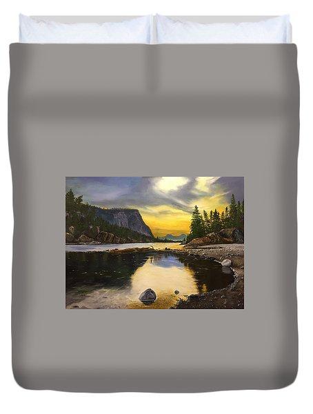 Bow River Sunrise  Duvet Cover