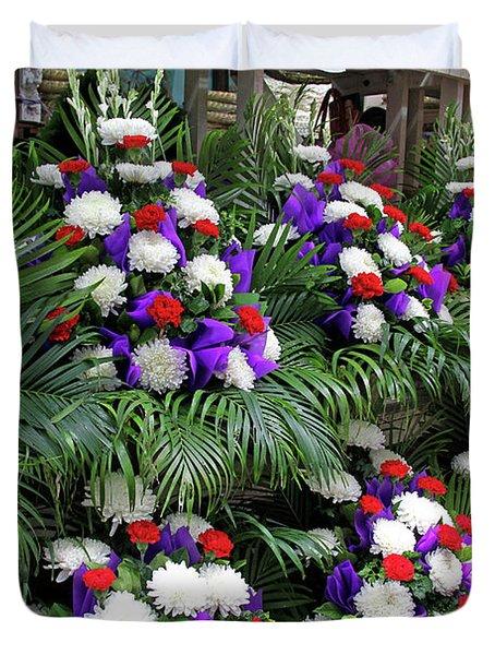 Bangkok, Thailand - Flower Market Duvet Cover