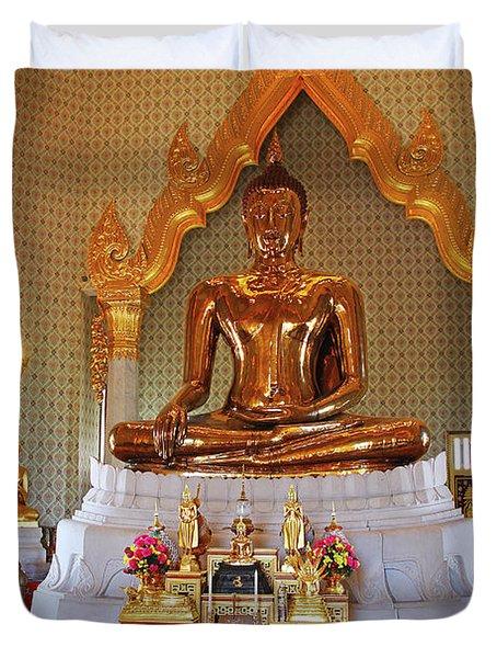 Bangkok, Thailand - Golden Buddha Duvet Cover