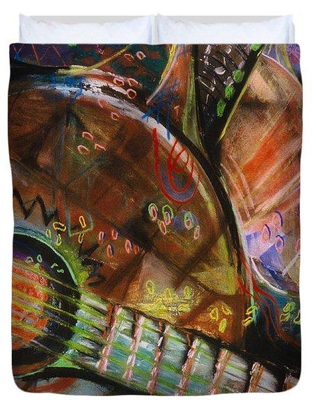 Banjos Jamming Duvet Cover