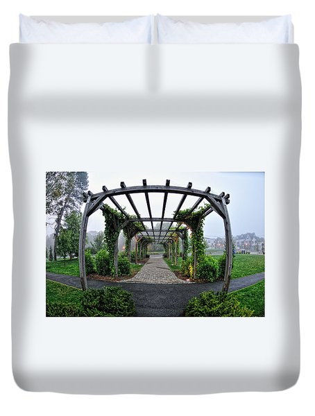 Bar Harbor Pergola Duvet Cover