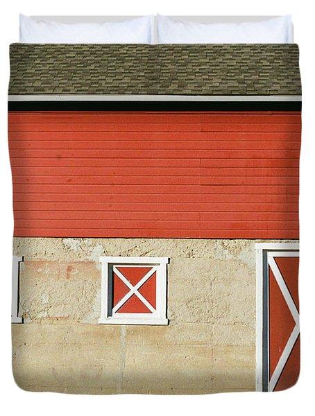 Barn Lines Duvet Cover