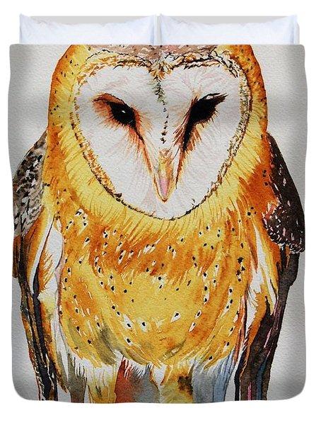 Barn Owl Drip Duvet Cover