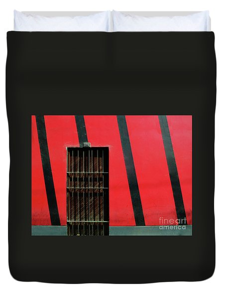 Duvet Cover featuring the photograph Bars And Stripes by Rick Locke