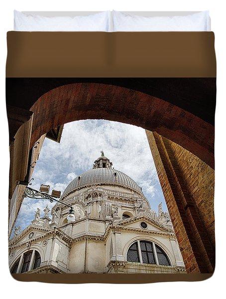 Duvet Cover featuring the photograph Basilica Di Santa Maria Della Salute Venice Italy by Nathan Bush