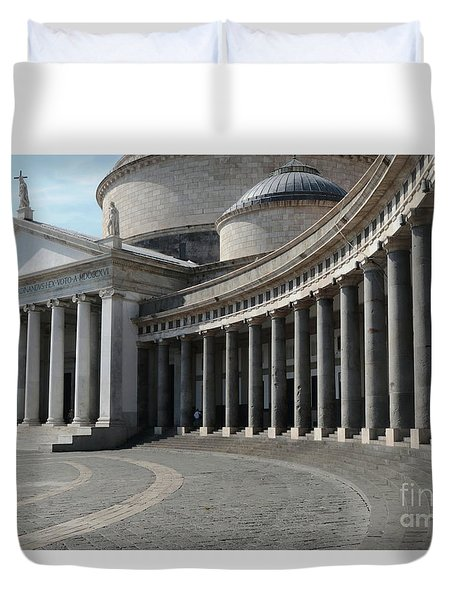 Basilica San Francesco Di Paola Duvet Cover