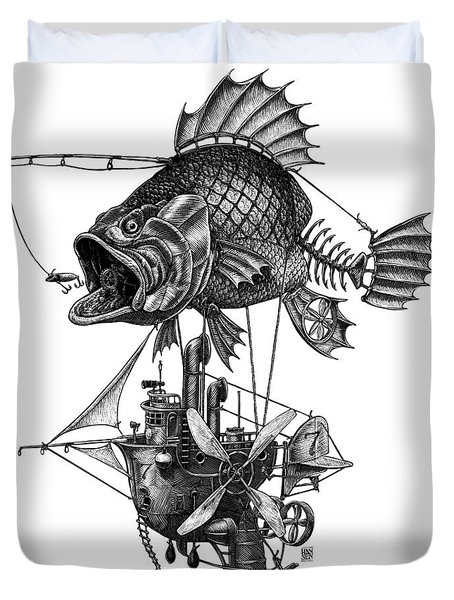 Bass Airship Duvet Cover