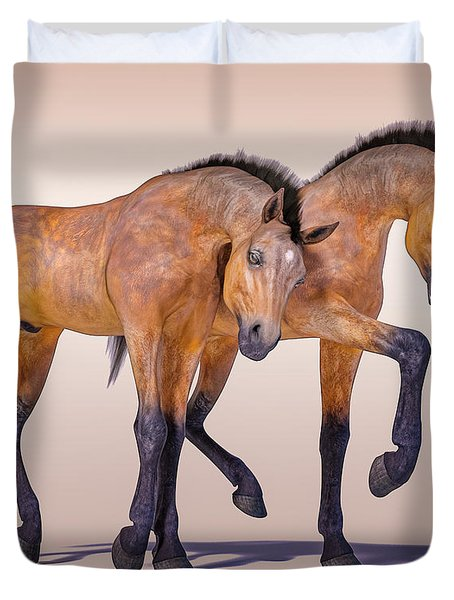 Bay Foal Pair Duvet Cover