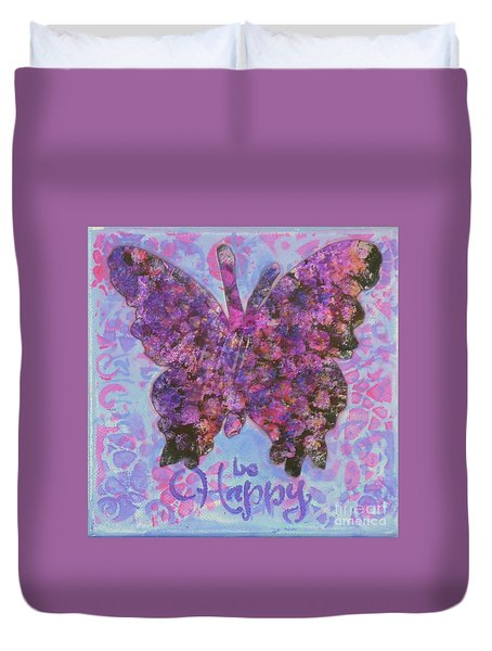 Be Happy 2 Butterfly Duvet Cover
