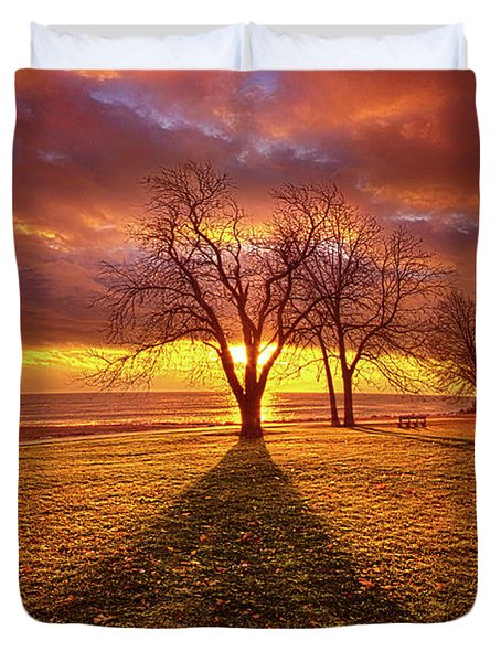 Duvet Cover featuring the photograph Be Still In The Moment by Phil Koch