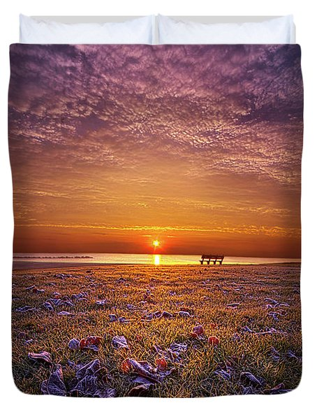 Duvet Cover featuring the photograph Be The Light by Phil Koch