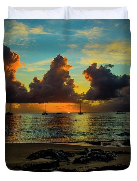 Beach At Sunset 2 Duvet Cover