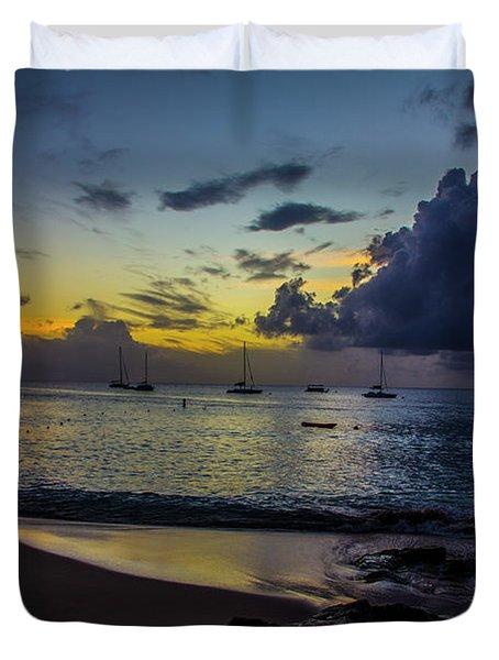Beach At Sunset 3 Duvet Cover