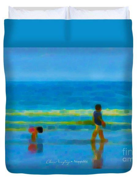 Beach Blues Duvet Cover