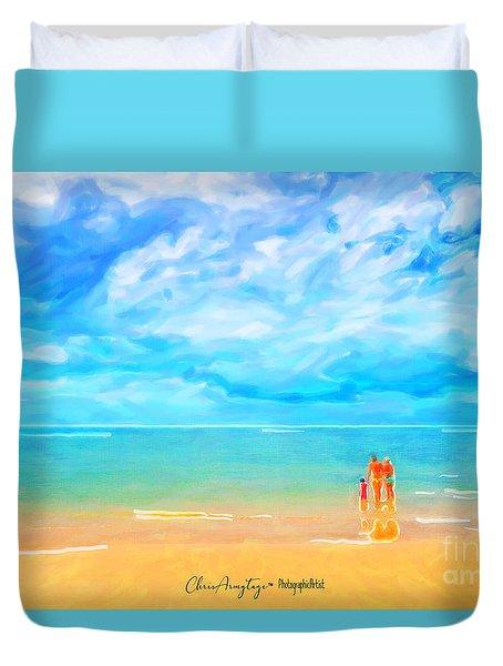 Beach Blues II Duvet Cover
