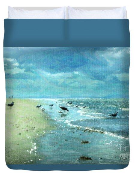 Beach Blues IIi Duvet Cover