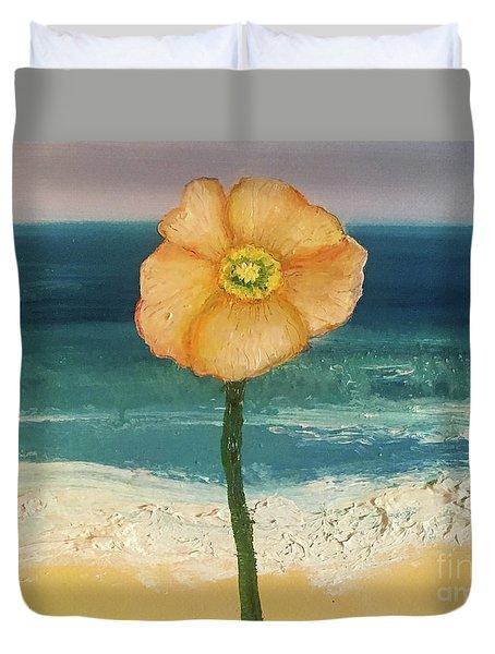 Beach Flora Duvet Cover