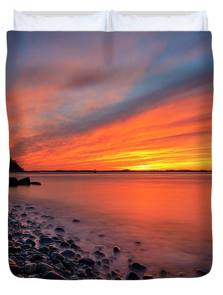 Beach Fury Duvet Cover