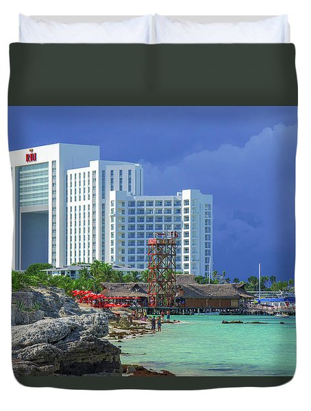 Beach Life In Cancun Duvet Cover