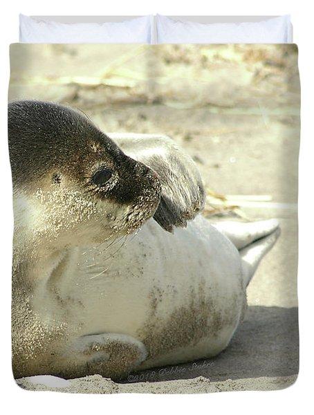 Beach Seal Duvet Cover