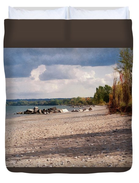 Beach Storm Duvet Cover