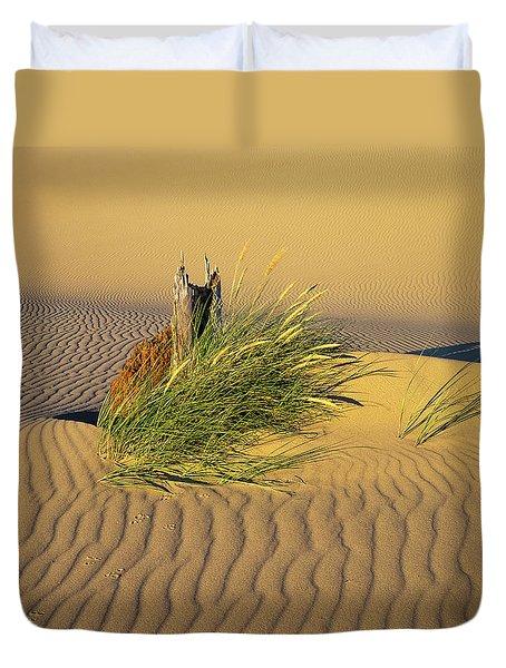 Beachgrass And Ripples Duvet Cover