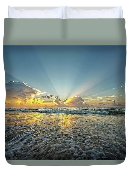 Beams Of Morning Light 2 Duvet Cover