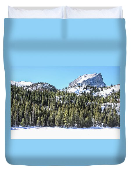 Duvet Cover featuring the photograph Bear Lake View Of Notchtop Mountain by Dawn Richards