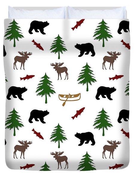 Bear Moose Pattern Duvet Cover