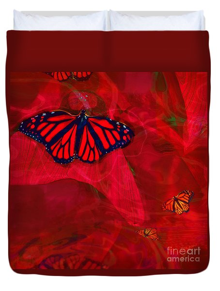 Beautiful And Fragile In Red Duvet Cover