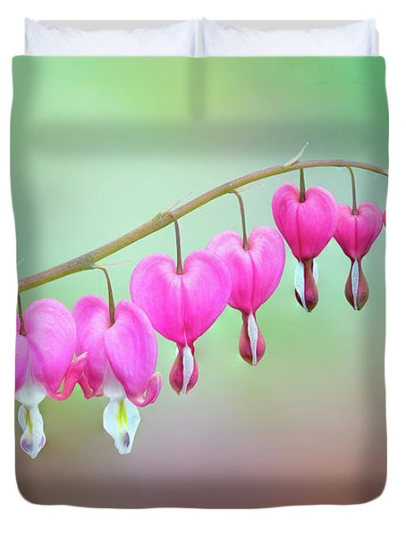 Beautiful Bleeding Hearts Duvet Cover
