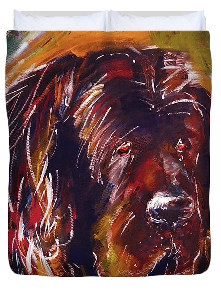 Beautiful Dog Painting  Duvet Cover