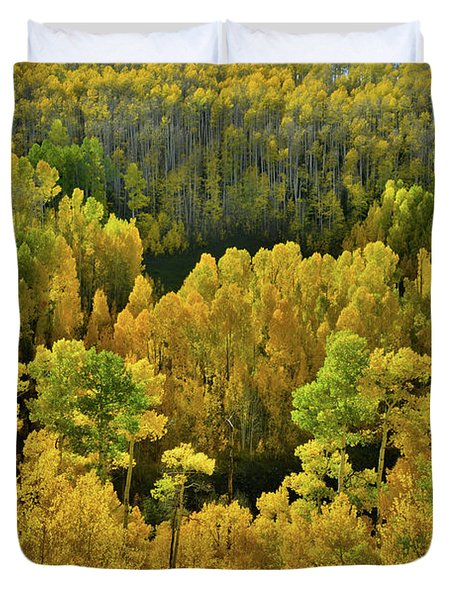 Beautiful Fall Colors At Woods Lake State Wildlife Area Duvet Cover