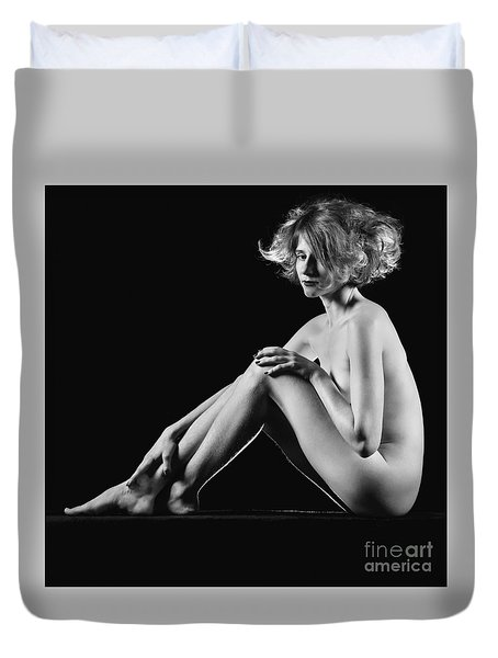 Beautiful Nude Woman Fineart Style Duvet Cover