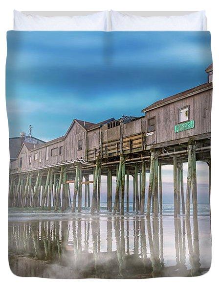 Beautiful Pier Maine Morning Duvet Cover