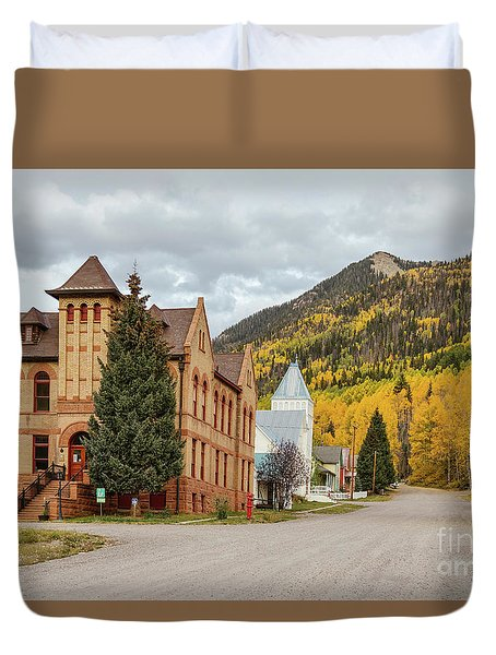 Duvet Cover featuring the photograph Beautiful Small Town Rico Colorado by James BO Insogna