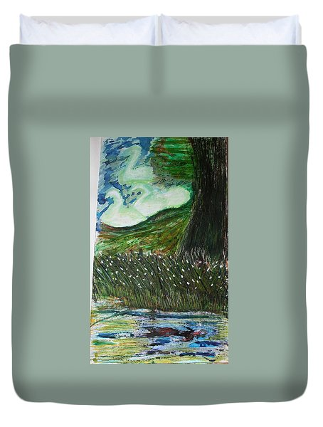Beauty Is His Abusive Kingdom Duvet Cover
