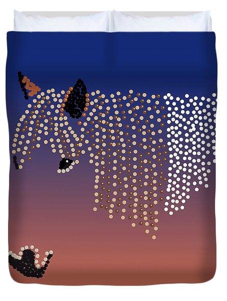 Bedazzled Horse's Mane Duvet Cover