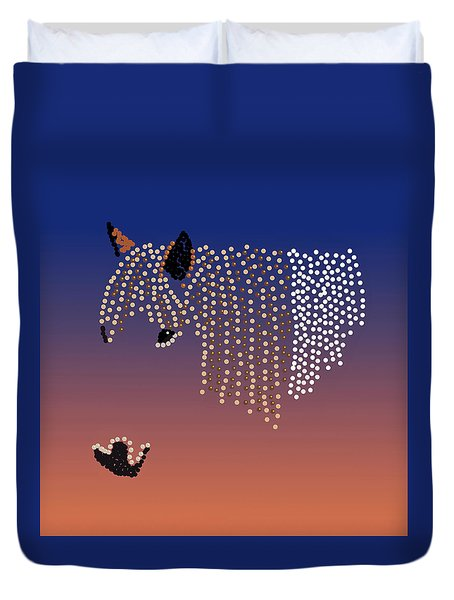 Bedazzled Horse's Mane Duvet Cover