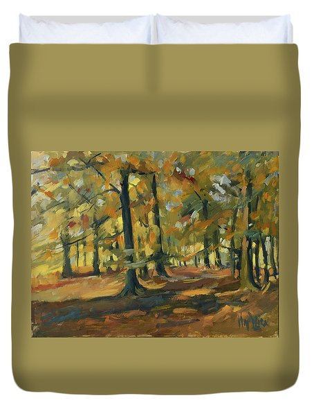 Beeches In Autumn Duvet Cover