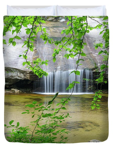 Duvet Cover featuring the photograph Beede Falls - Sandwich Notch, New Hampshire by Erin Paul Donovan