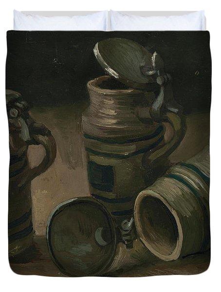 Beer Tankards Duvet Cover