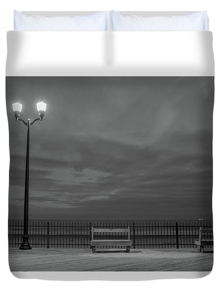 Before Dawn On The Boards Duvet Cover