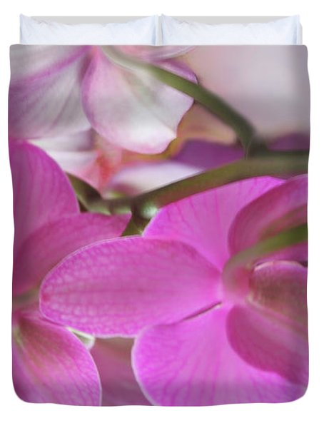 Behind The Orchid Duvet Cover