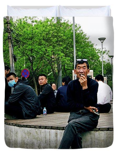 Beijing Street Duvet Cover