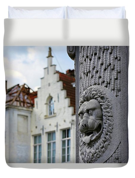 Duvet Cover featuring the photograph Belgian Coat Of Arms by Nathan Bush