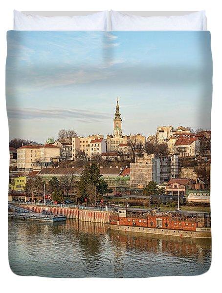 Belgrade Cityscape Duvet Cover
