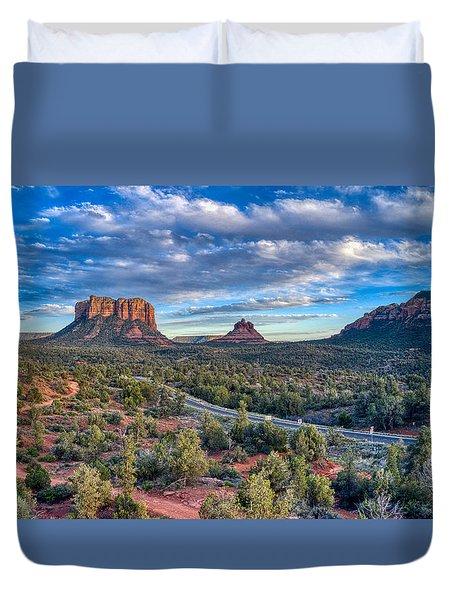 Bell Rock Scenic View Sedona Duvet Cover