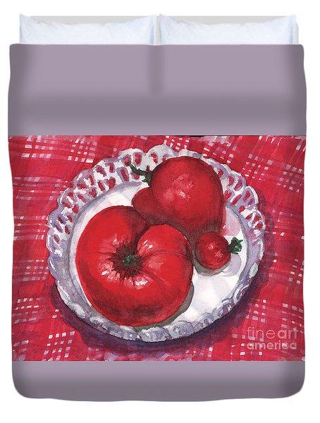 Bella Tomatoes Duvet Cover